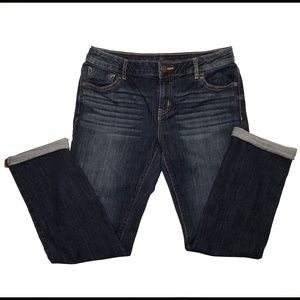 Women's Simply Vera Wang roll cuff capri jeans